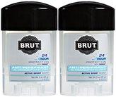 Brut Clear Gel Antiperspirant, Active Sport - 2 oz - 2 pk