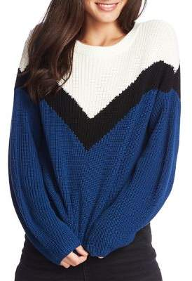 1 STATE 1.State Chevron Cotton Sweater