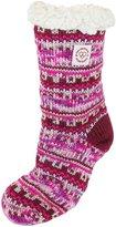 Dearfoams Women's Fairisle Plush Slipper Sock