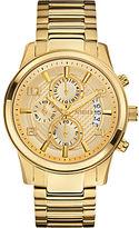 GUESS Goldtone Masculine Dress Chronograph Watch