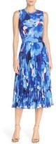 Maggy London Print Chiffon Midi Dress