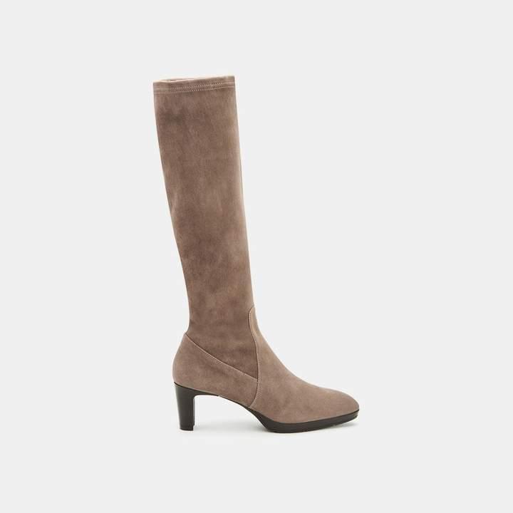 Aquatalia Dahlia Half Zip Suede Knee High Boot