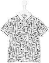 Dolce & Gabbana musical instrument print polo shirt