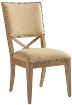 Tommy Bahama Alderman Side Chair - Taupe frame, natural; upholstery, taupe; hardware, bronze