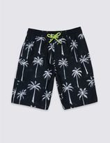 Marks and Spencer Palm Tree Print Swim Shorts (3-14 Years)