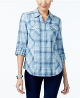 Style&Co. Style & Co Cotton Plaid Shirt, Only at Macy's