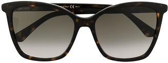 Jimmy Choo Tortoise-Shell Square Glasses