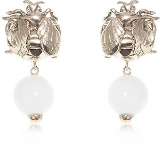 Bee Bronze Earrings w/ Cianite