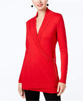 INC International Concepts I.n.c. Zip-Up Sweater Tunic, Created for Macy's