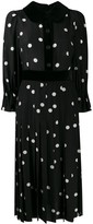 Dolce & Gabbana polka-dot print pleated dress