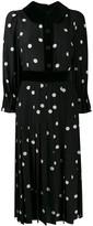 Dolce & Gabbana Polka-Dot Print Pleated Dress