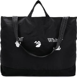 Off-White OW logo print tote