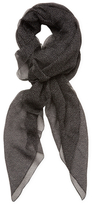 "The Kooples Dotted Silk Long Scarf, 94"" x 46"""