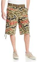 Southpole Men's All Over Tiger Camo Print Shorts