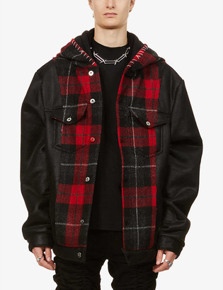 Mjb   Marc Jacques Burton Checked double-hood wool jacket
