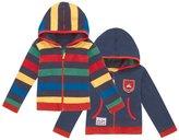 Jo-Jo JoJo Maman Bebe Zip-Up Hoodie (Baby) - Multi Stripe-6-12 Months