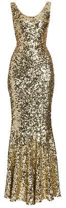 Dolce & Gabbana Sleeveless Sequin Gown