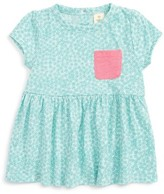 Infant Girl's Tucker + Tate Print Knit Peplum Top