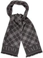 Valentino Fringed Wool Scarf