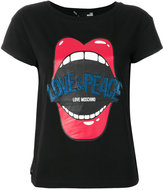 Love Moschino lip print T-shirt