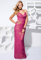 Terani Couture P1557 Sleeveless Sequined Long Gown
