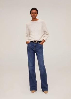 MANGO Long raglan sleeve sweater light/pastel grey - S - Women
