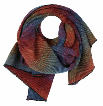 The Olive House Scarves The Olive House Womens Ombre Pleated Scarf Mutlicoloured