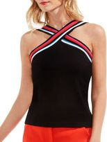 Vince Camuto Cross Halter Cotton Sweater