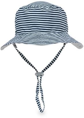 Snapper Rock Baby's Reversible Stripe Bucket Hat