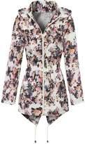 MyShoeStore Ladies Women Girls Rain Mac Raincoat Showerproof Cagoule Parka Hooded Big Jacket