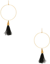 Vanessa Mooney Summer of Love Tassel Hoop Earrings