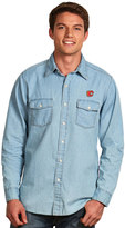 Antigua Men's Calgary Flames Chambray Button-Down Shirt