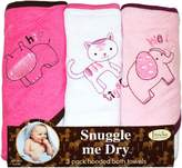 FRENCHIE MINI COUTURE Safari Animal 3-Pack Towel-Girl