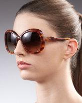 Miu Miu Round Glam Sunglasses, Brown Glitter