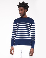Armor Lux Mariner Sweater Striped Navy