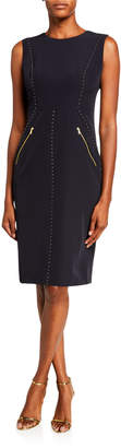 Donna Karan Sleeveless Studded Sheath Dress