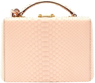 Mark Cross Grace Pink Python Handbags