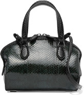 Rochas Saint Lazare two-tone lizard-effect leather tote