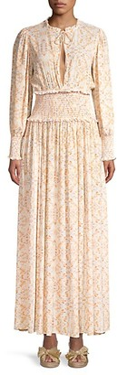 WeWoreWhat Addision Printed Blouson Maxi Dress