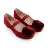 Aquazzura AquazzuraGirls Red Suede Powder Puff Shoes