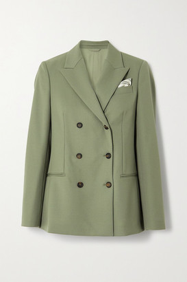 Brunello Cucinelli Double-breasted Wool Blazer - Light green