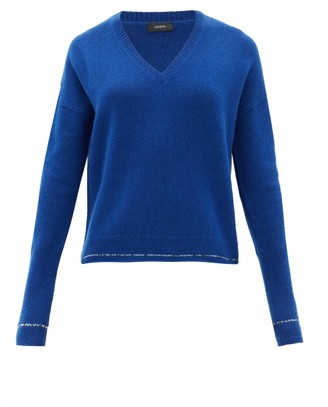 Joseph Contrast-stripe Cashmere Sweater - Womens - Blue