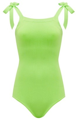 JoosTricot Lina Shoulder-tie Knitted Bodysuit - Green