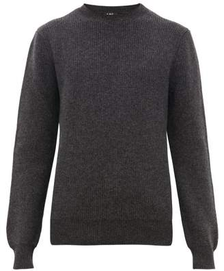A.P.C. Andy Wool Cashmere Sweater - Mens - Grey