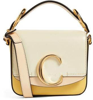 Chloé Mini Leather Two-Tone C Bag