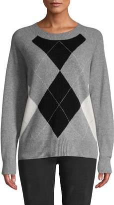 Saks Fifth Avenue Argyle Cashmere Sweater