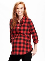 Old Navy Maternity Plaid Flannel Popover
