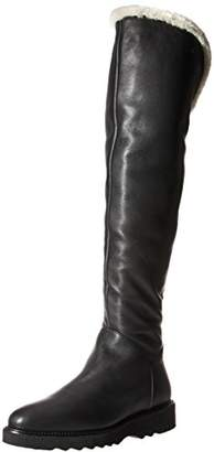 Aquatalia Women's Kiara Tumbled CLF/Shearling Over The Knee Boot