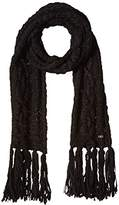 Cole Haan Women's Chunky Cable Scarf with Fringe