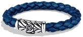David Yurman Sterling Silver & Rubber Chevron Bracelet